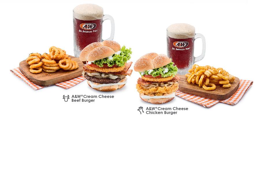 New A&W® Cream Cheese Burgers