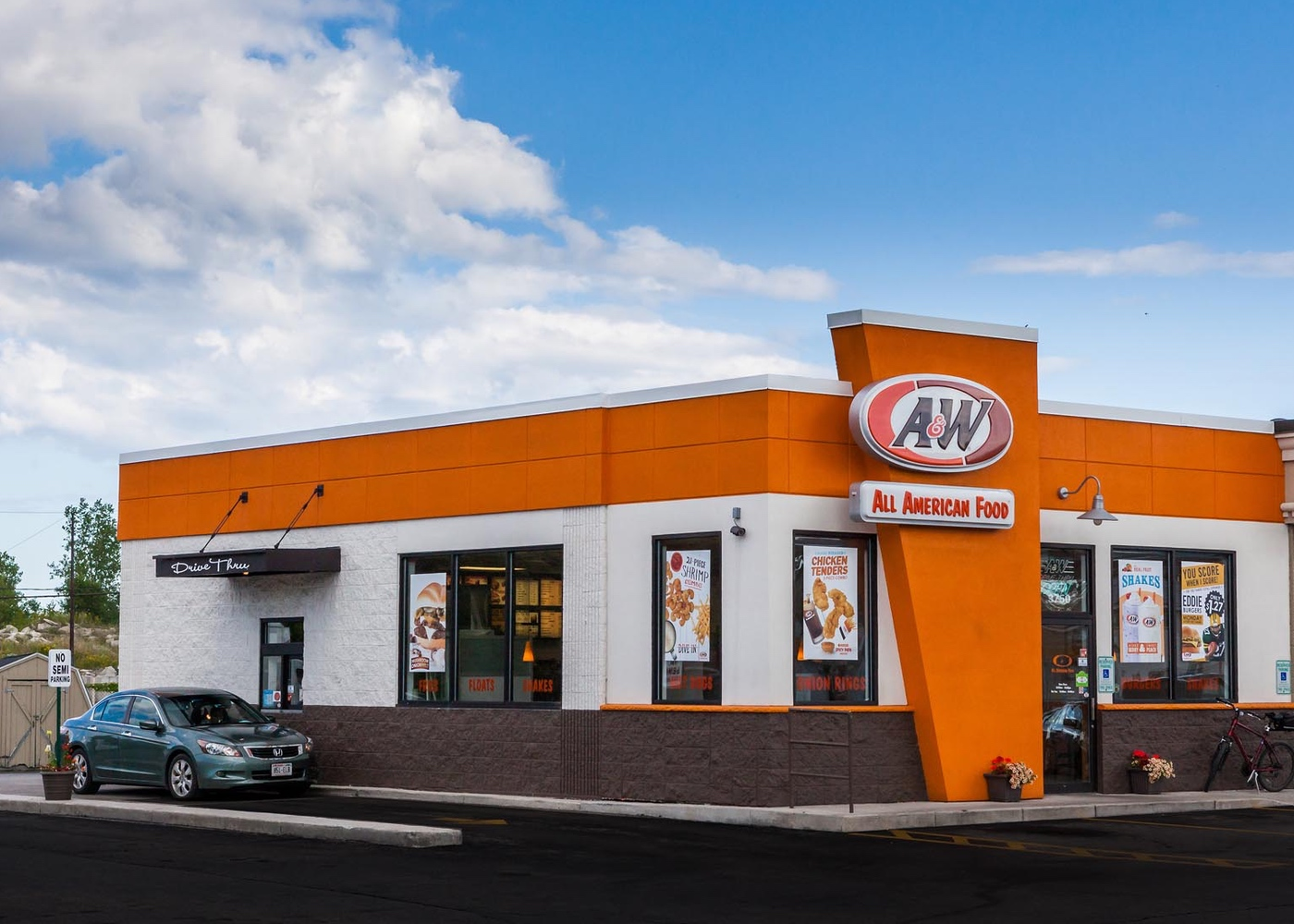 Side view of an A&W Restaurant