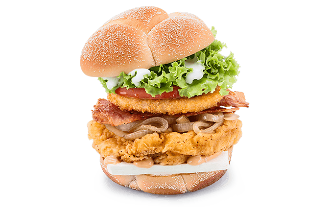 A&W® Cream Cheese Chicken Burger