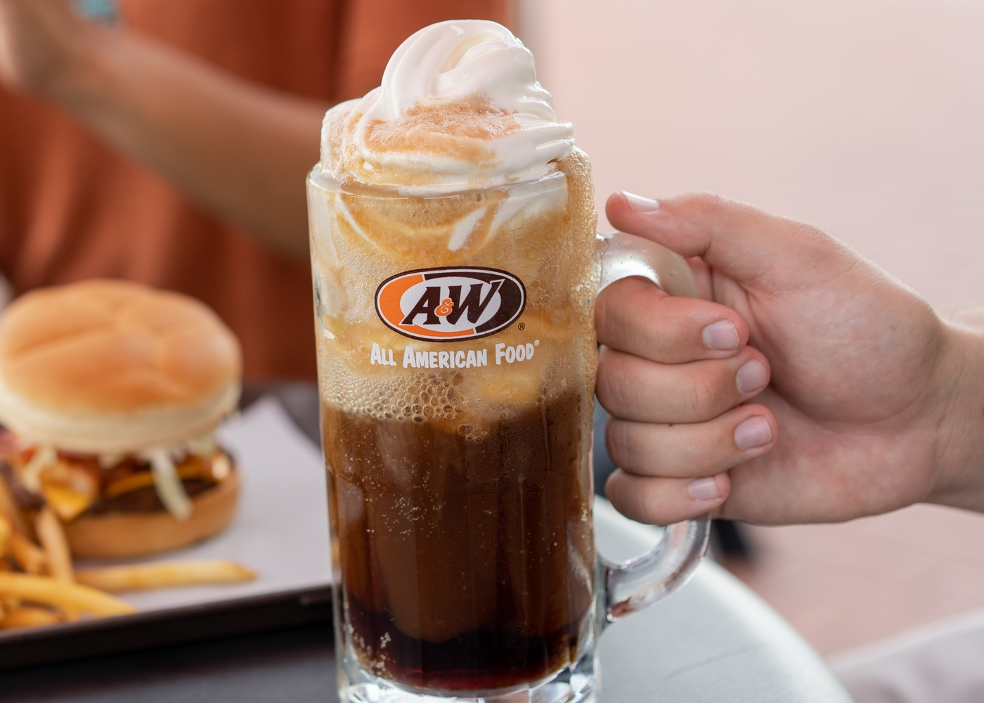 Holding Root Beer Float